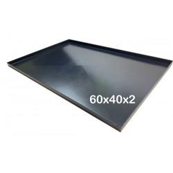 Teglia Forno 60x40x2 Cm, per Pizza Professionale Spessore teglie 8/10 TEGLIE IN FERRO BLU